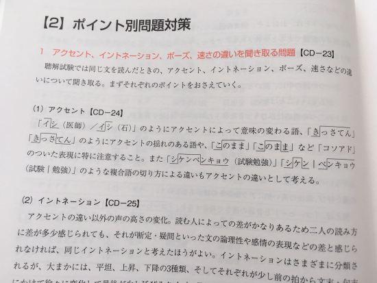 アルク「日本語教育能力検定試験合格パック」対策試験問題集の中身