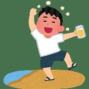 酔っぱらって、フラフラしている男性