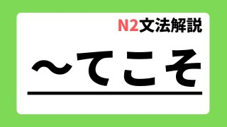 N2文法解説「~てこそ」