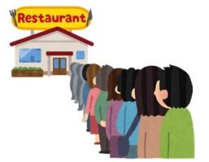 行列のできるレストラン