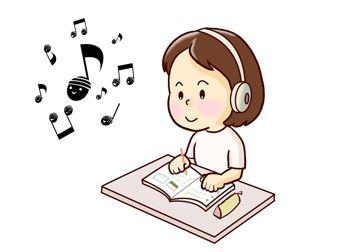 音楽を聞きながら、勉強