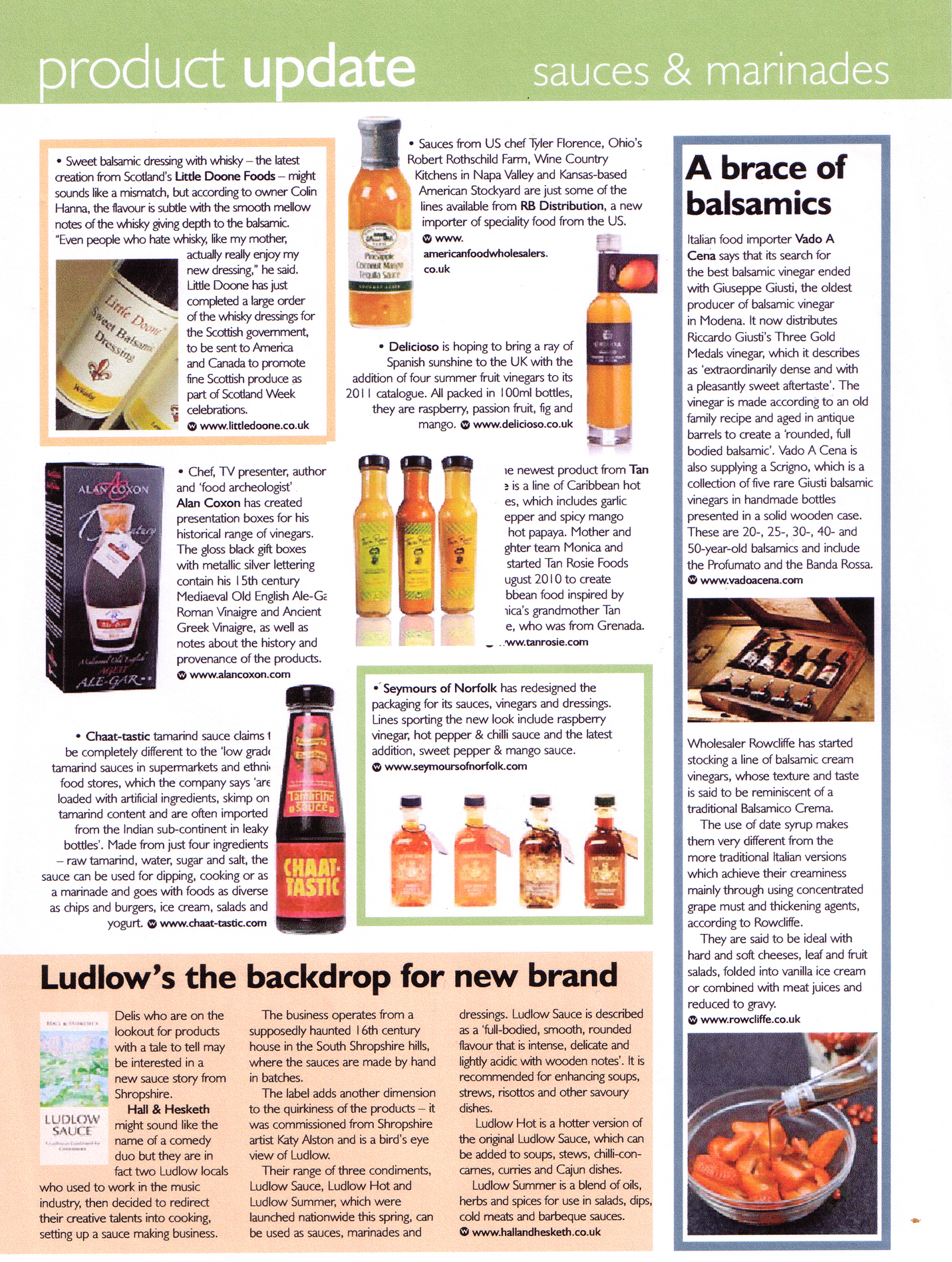 Fine Food Digest Article
