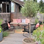 Hvordan lage rom i hagen! Terrassen, et hagerom