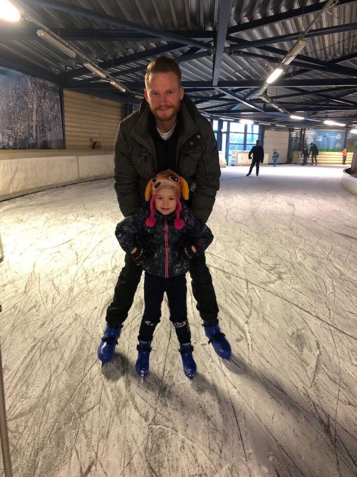 Een nieuw jaar en nog even genieten van de vakantie schaatsen