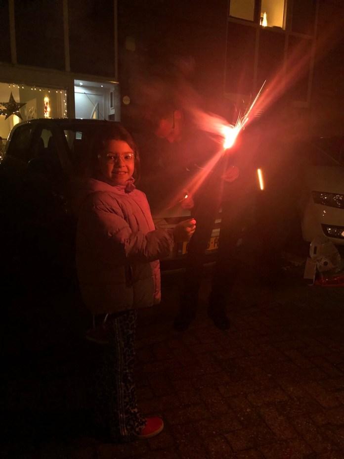 Een nieuw jaar en nog even genieten van de vakantie vuurwerk