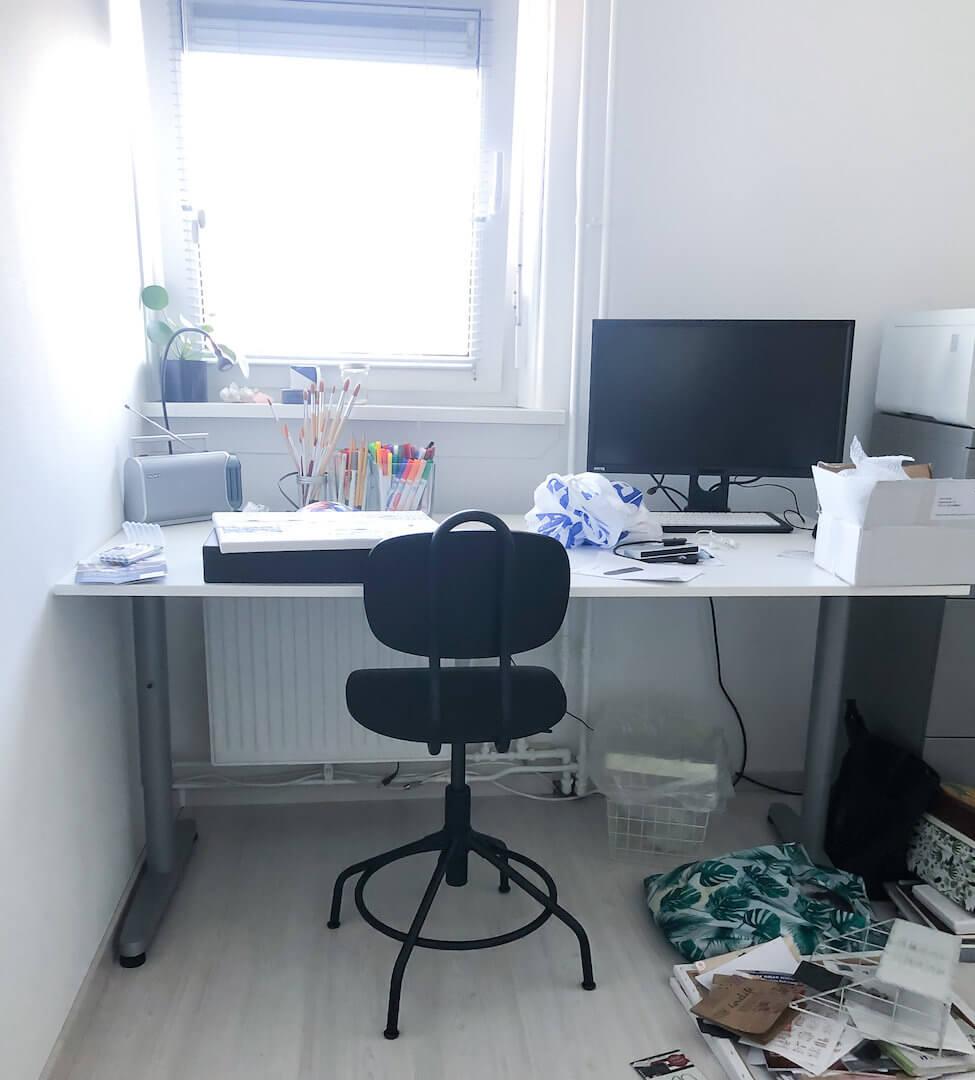 Mijn kantoor inrichten en spullen wegdoen
