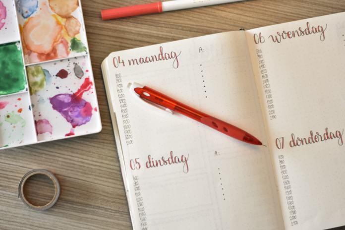 bullet journal in februari weekplanning