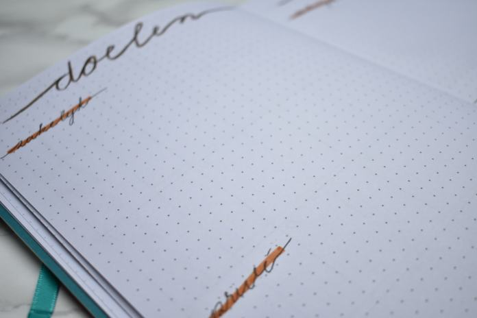 bullet journal setup voor oktober doelen