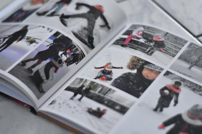 fotoherinnering voor later foto's in de sneeuw