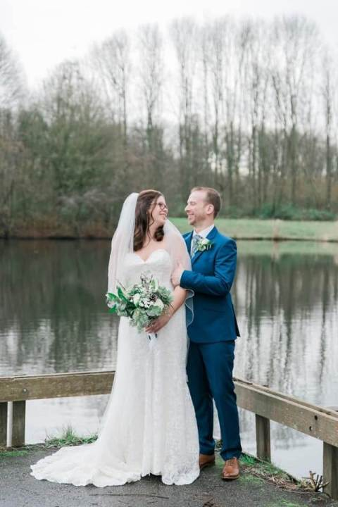 Het bruidspaar op de grote dag