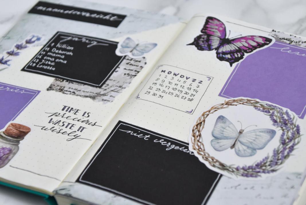 setup van mijn bullet journal in juli maandoverzicht 2 juli