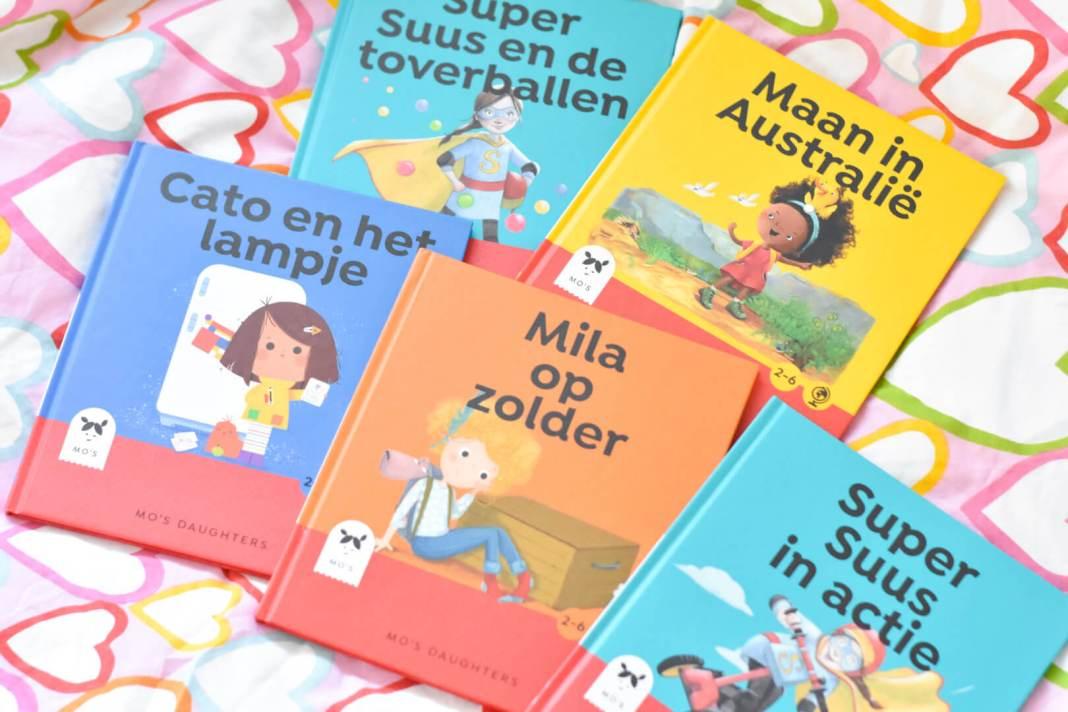 vijf personages in de boeken van Mo's Daughters