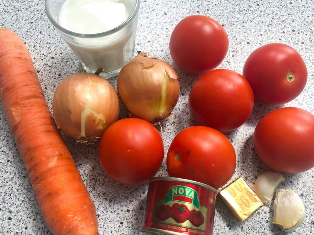 wat heb je nodig voor tomatensoep