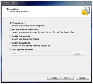 recover deleted files using recuva