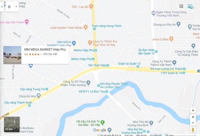 bản đồ địa chỉ mới Tân Trang Laptop