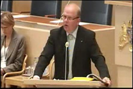 Jordbruksminister Eskil Erlandsson i talarstolen