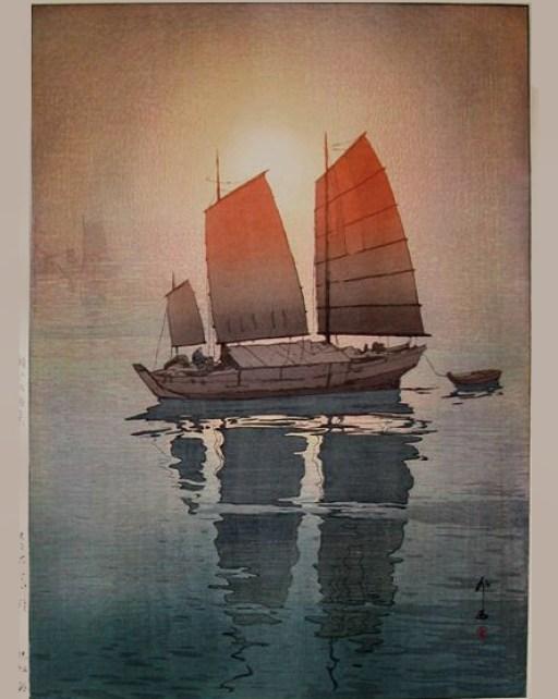Sailboats Morning Yoshida Hiroshi2