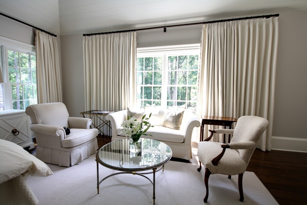 Simple Curtains For Triple Windows  Custom Home Design
