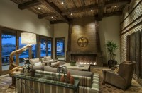Rustic Western Living Room Interior Decor Style | Custom ...