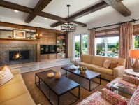 Rustic Western Living Room Interior Decor Style | Custom ...