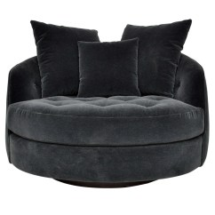 Round Swivel Cuddle Chair Ergonomic Cheap Snuggle Sofa Naples Silver Grey Chesterfield Abode Sofas - Thesofa