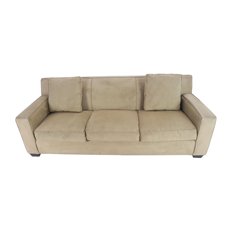 crate and barrel willow twin sleeper sofa rimini 3 2 seater set futon