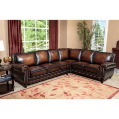 Abbyson Living Belmont Leather Sofa Intex One Person Inflatable Pull Out Chair Bed 68565 2019 Latest Sofas Ideas