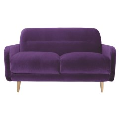 Purple Velvet Upholstered Sofa Small Curved Sectional 20 Inspirations Sofas Ideas