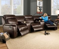 15 Collection of Curved Sectional Sofa With Recliner ...