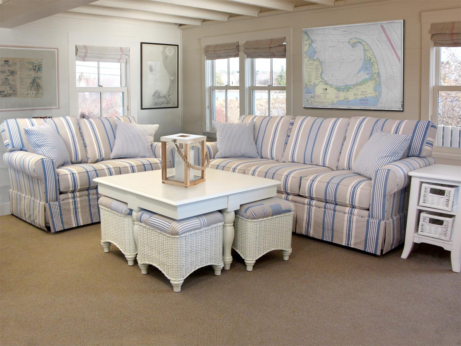 Blue And White Chair 20 Top Blue And White Striped Sofas Sofa Ideas
