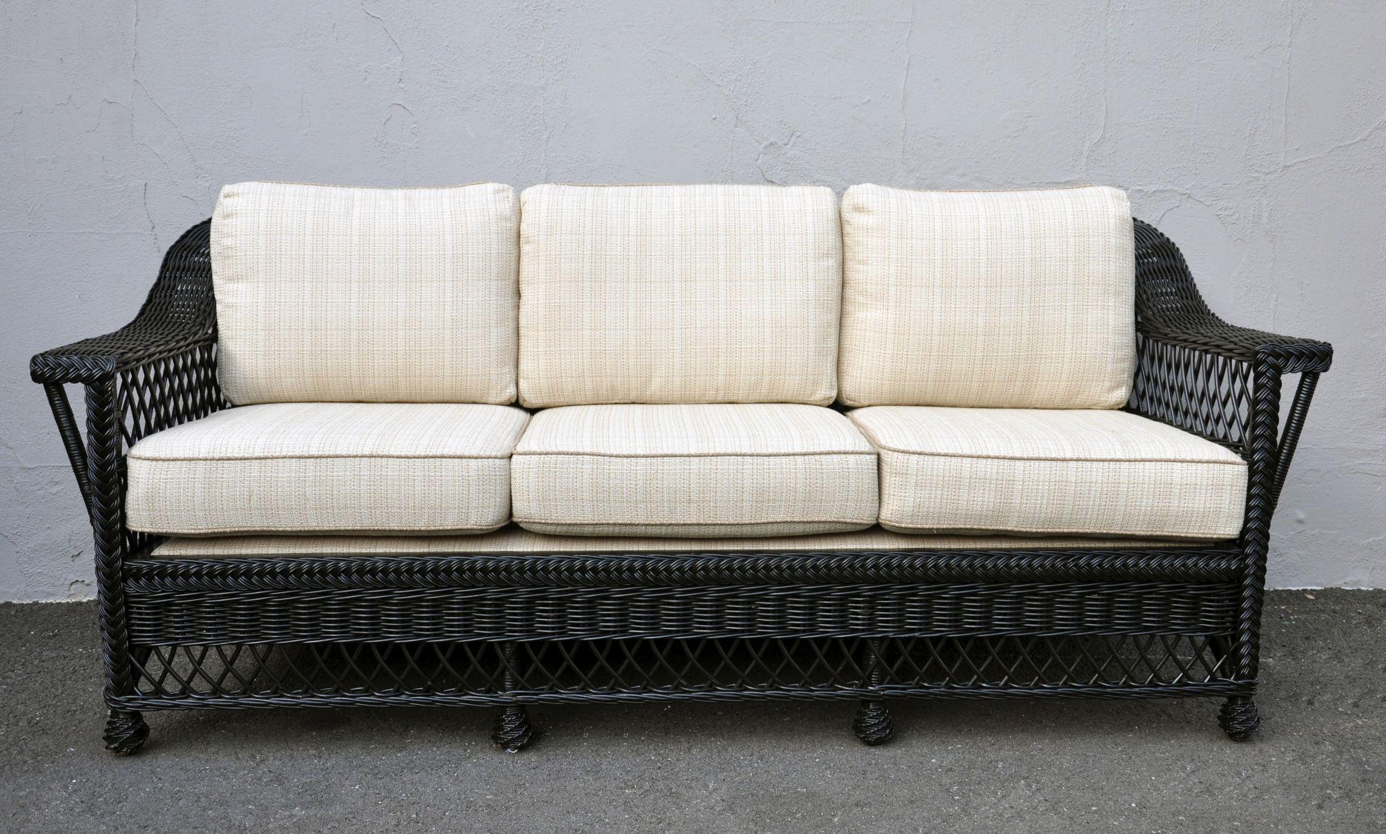 black aluminum outdoor sofa beachy sofas 20 collection of wicker ideas