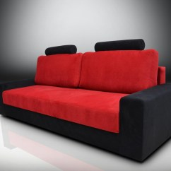 Black And Red Sofa Bed White Leather Ideas 20 Photos