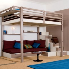 Loft Bed With Sofa Under How To Clean Fabric At Home 20 Photos Bunk Sofas Underneath Ideas