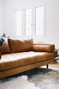 20 Top Camel Color Leather Sofas | Sofa Ideas