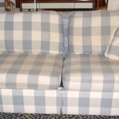 Broyhill Sofa Prices Deep Seated With Chaise 20+ Choices Of Blue Plaid Sofas | Ideas
