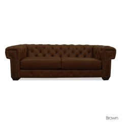 Vine Brown Leather Tufted Sofa Set Full Hd Photos 20 Top Sofas Ideas