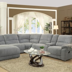 Costco Fabric Reclining Sofa White Loveseat Bed 2019 Latest 6 Piece Sectional Sofas Couches | Ideas