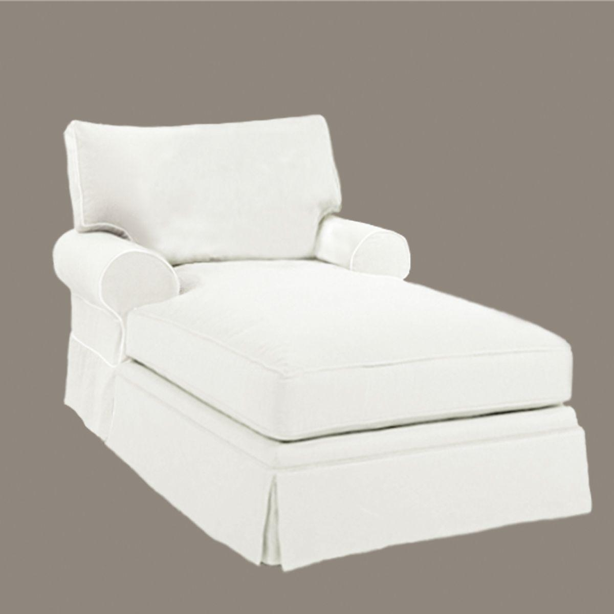 white lounge chair covers miami 20 collection of slipcovered chaises sofa ideas