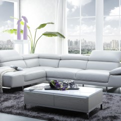 Modern White Italian Leather Sectional Sofa Recycling 20 Inspirations Sectionals Contemporary