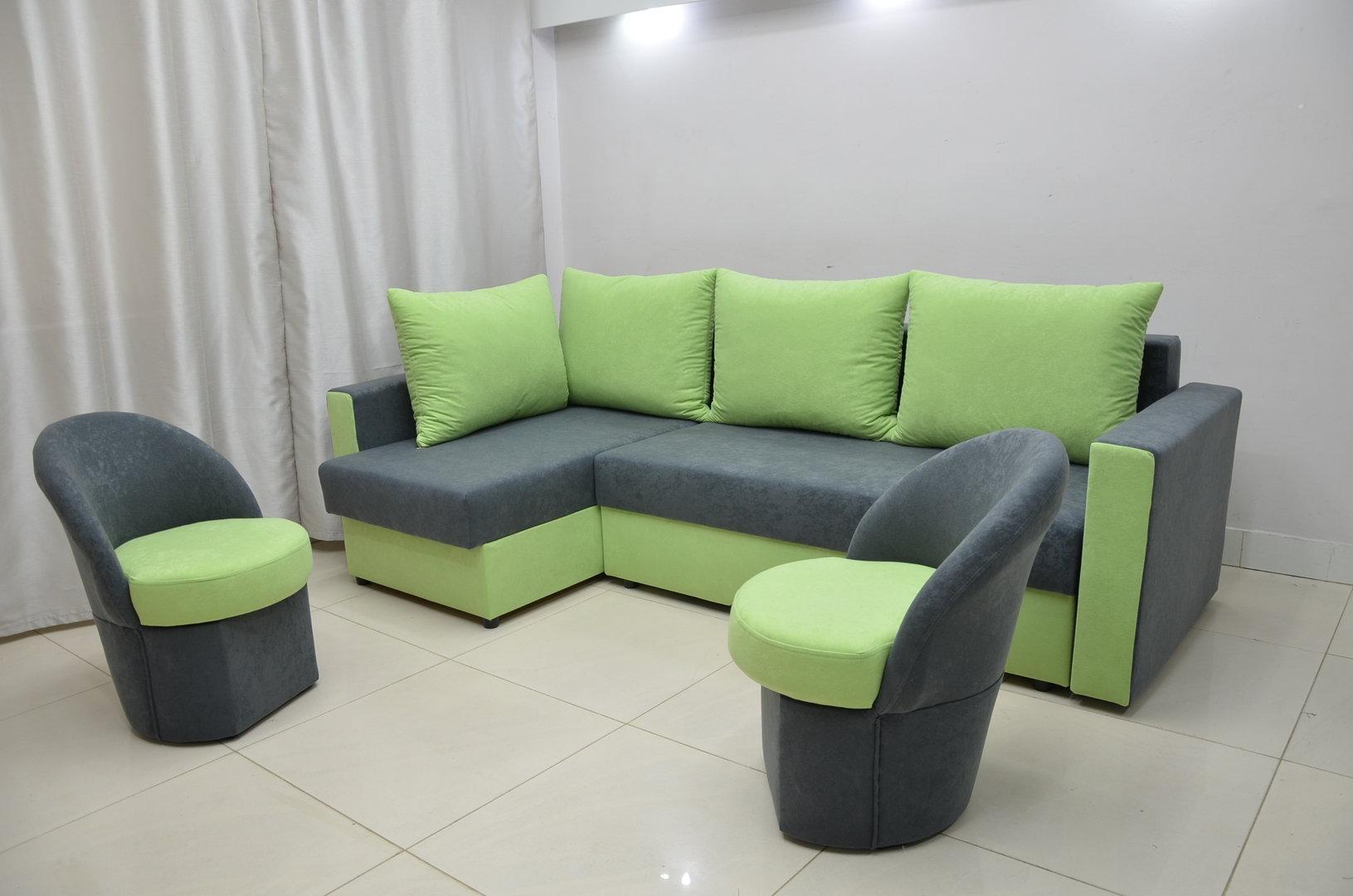 green fabric sofas sofa design institute philippines tuition fee 20 best ideas corner chairs