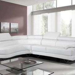 Grey And White Corner Sofa Fabric Beds Brisbane Scafati Leather Bed