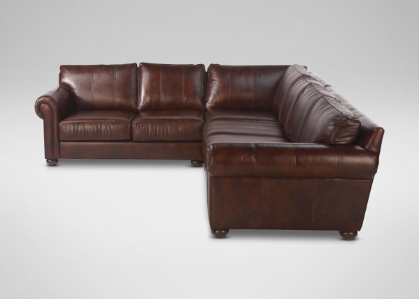 Ideas Deep Seat Leather Sectional Sofa