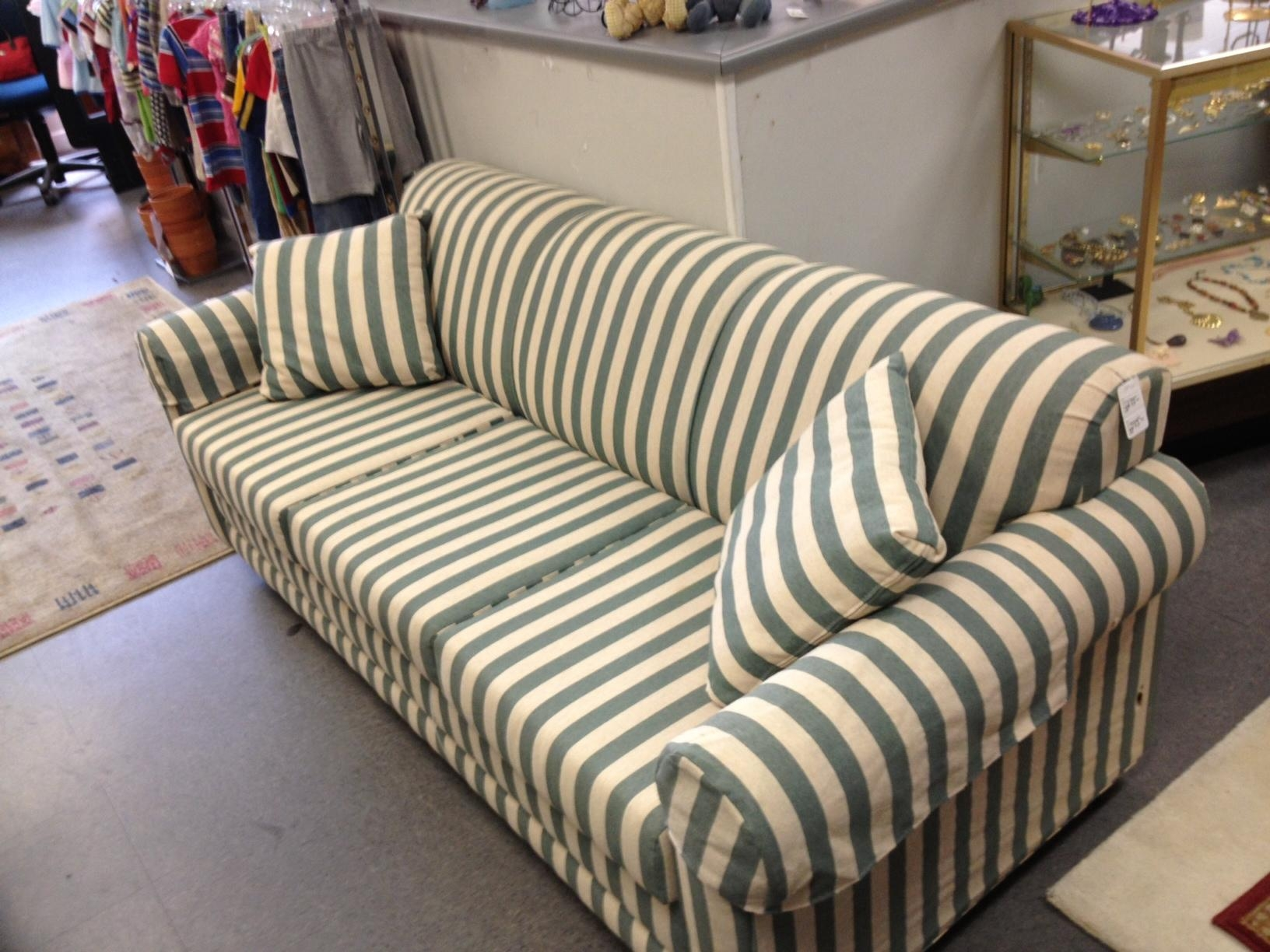 stripe sofa diy pet bed 20 top blue and white striped sofas ideas