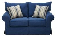 Denim Sofa And Loveseat Junk Gypsy Blue Jean Chesterfield ...