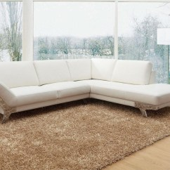 Divani Casa 5106 Modern White Italian Leather Sectional Sofa Elliot Bed 20 Inspirations Sectionals Contemporary