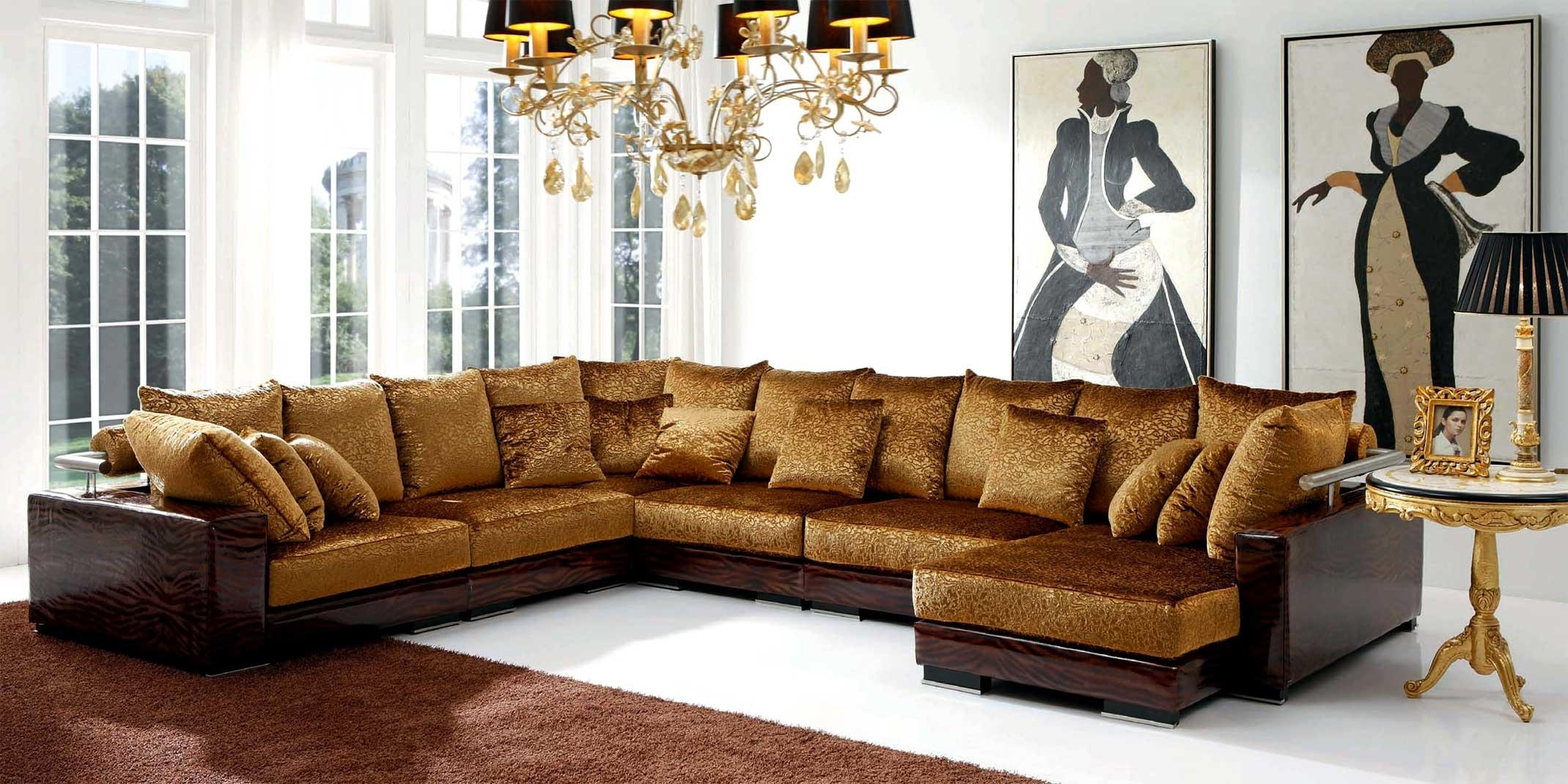 gold sectional sofa three seat length 15 collection of ideas