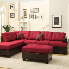 Sectional Sofas Microfiber Fabric Kivik Sofa Cover Ikea 20 Best Collection Of Burgundy Ideas