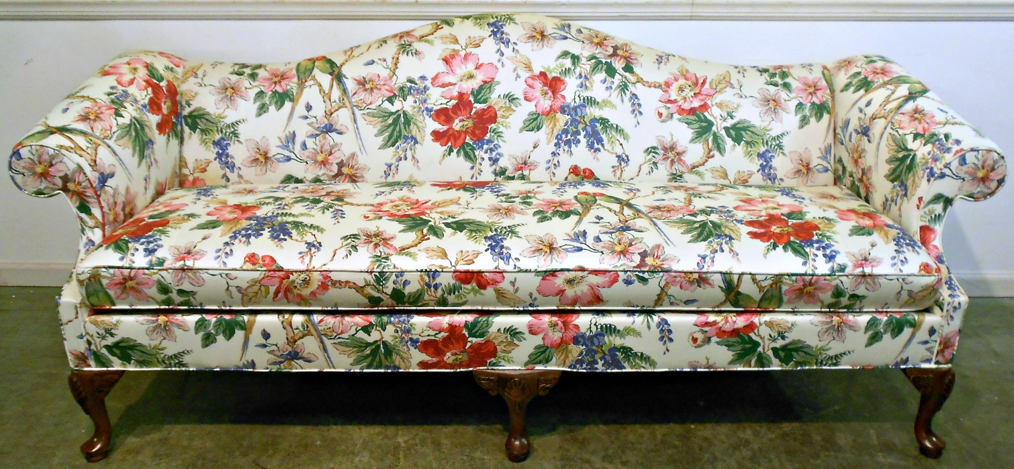 flower sofa covers corner bed chaise longue 20 photos floral sofas ideas
