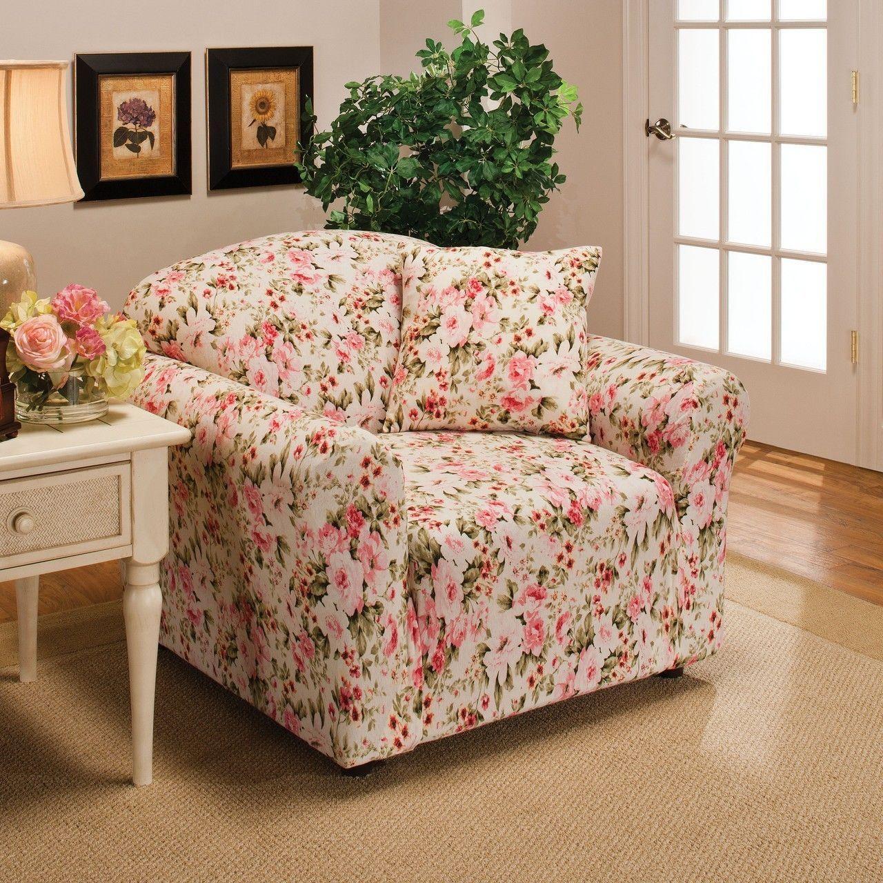 flower sofa covers sleeper mattress reviews 20 inspirations floral slipcovers ideas