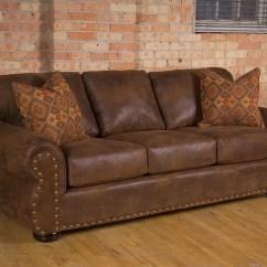 Nailhead Trim Leather Sofa Set Blue Pillows 20 43 Choices Of Brown Sofas With